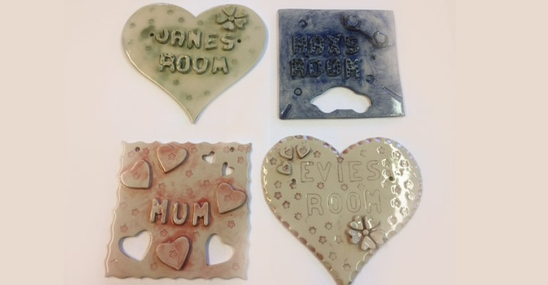 Pottery plaque making