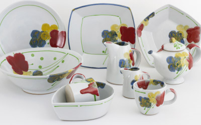 Poppy tableware range