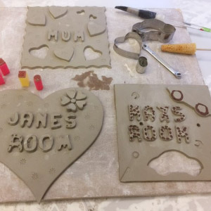Pottery Plaque Making - for kids & adults